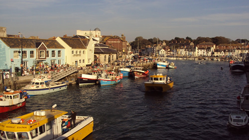 Weymouth Harbour near Kenmuire holiday apartments