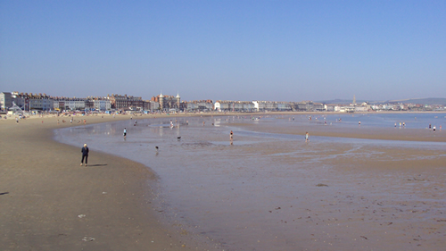 The beach in Weymouth