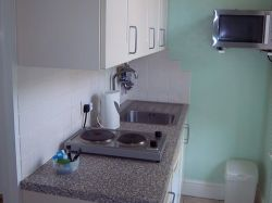 Kitchen at holiday apartment in Weymouth