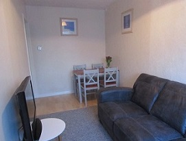 Lounge at apartment in Weymouth