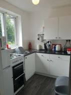 Kitchen at self-catering apartment in Weymouth
